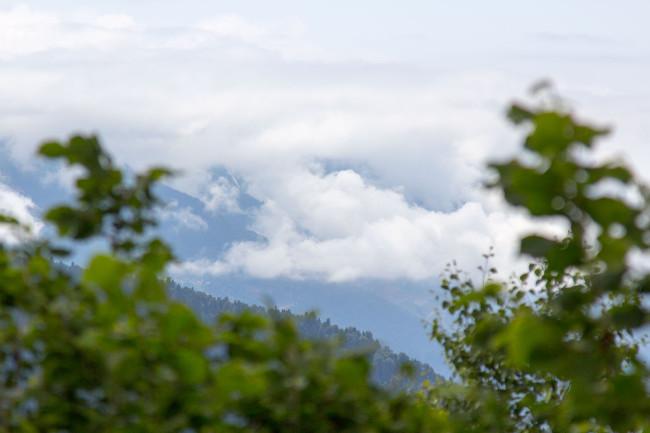 Выше облаков — полдень на перевале Аишхо